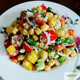 Greek chickpeas Salad 1